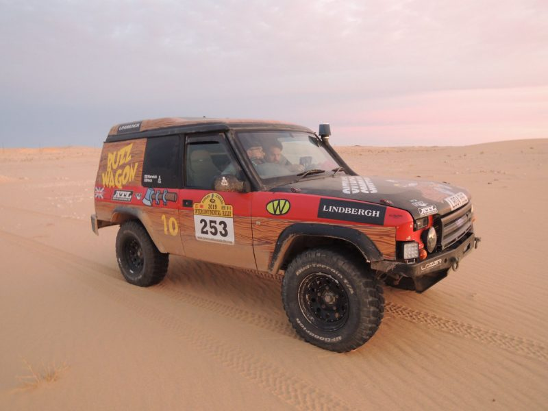 Car participanting in The Real Way to Dakar by Intercontinental Rally