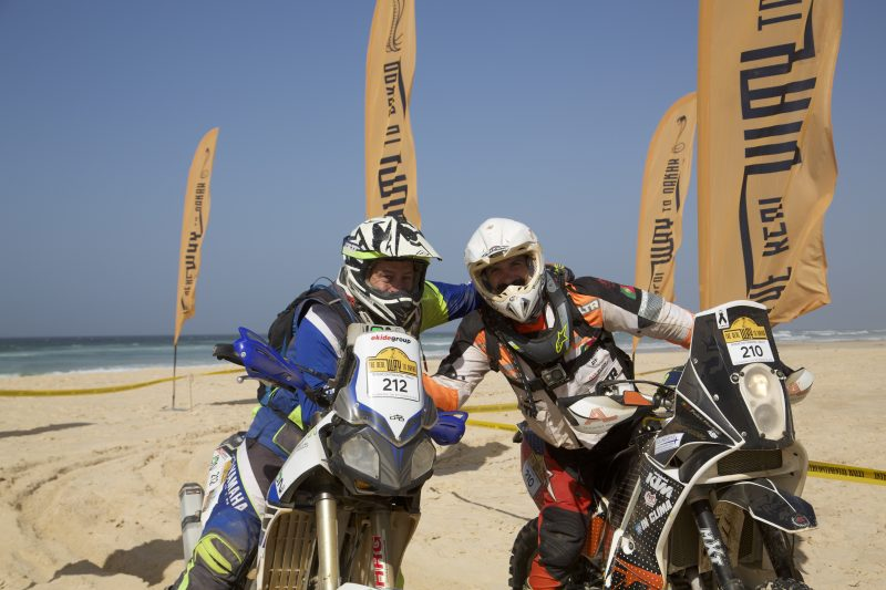 Finishing motorcycles in The Real Way to Dakar